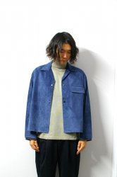 URU(ウル)/SUEDE SHIRTS JACKET/D.Blue