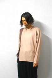 ETHOSENS(エトセンス)/By color winding pullover/Pink × Burgundy