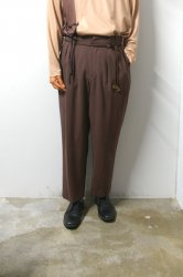 ETHOSENS(エトセンス)/Drawcode slacks/Burgundy