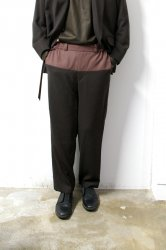 ETHOSENS(エトセンス)/By color pants/Dark brown