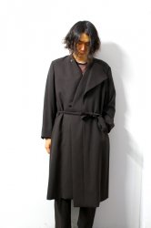 ETHOSENS(エトセンス)/Layer collar coat /Dark brown
