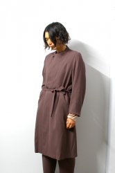 ETHOSENS(エトセンス)/Layer collar coat /Burgundy