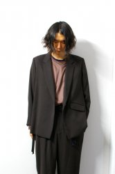 ETHOSENS(エトセンス)/String tailored jacket /Dark brown