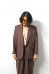 ETHOSENS(エトセンス)/String tailored jacket /Burgundy