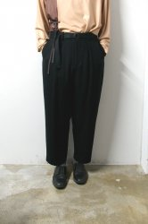 ETHOSENS(エトセンス)/Flannel slacks/Black