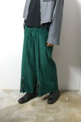 LIBERUM(リベルム)/Corduroy wide pants/Green