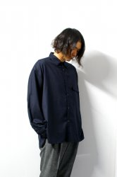 stein(シュタイン)/OVERSIZED DOWN PAT SHIRT/Dark navy
