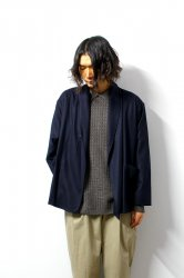 URU(ウル)/WOOL 1B CARDIGAN/D.Navy