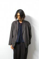 URU(ウル)/WOOL 1B CARDIGAN/Charcoal
