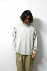 URU(ウル)/KNIT POLO SHIRT(TYPE A)/L.Gray