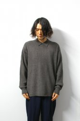 <img class='new_mark_img1' src='https://img.shop-pro.jp/img/new/icons16.gif' style='border:none;display:inline;margin:0px;padding:0px;width:auto;' />URU(ウル)/KNIT POLO SHIRT(TYPE B)/Brown