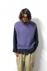 URU(ウル)/KNIT VEST(TYPE A)/D.Lavender