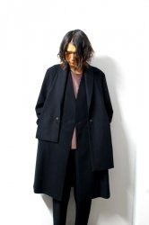ETHOSENS(エトセンス)/Muffler collar coat/Black