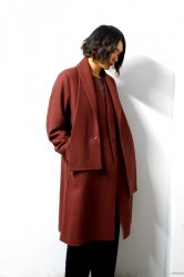 ETHOSENS(エトセンス)/Muffler collar coat/Mahogany