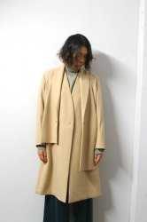 ETHOSENS(エトセンス)/Muffler collar coat/Beige