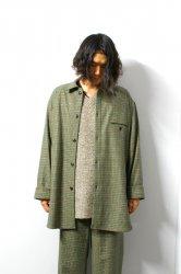URU(ウル)/WOOL CHECK OVER SHIRTS/Green