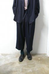 URU(ウル)/WOOL 1TUCK PANTS/D.Navy
