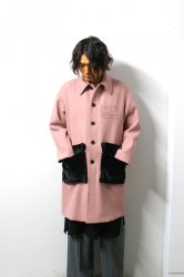LIBERUM(リベルム)/Fur pocket soutien collar coat/Smoke pink