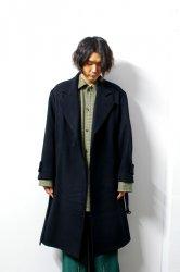stein(シュタイン)/OVERSIZED LESS COAT/Black