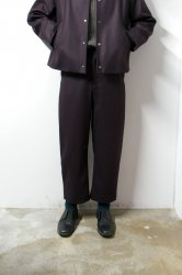 URU(ウル)/WOOL WIDE PANTS/Burgundy