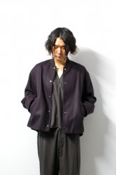 URU(ウル)/WOOL STADIUM JACKET/Burgundy