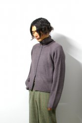 URU(ウル)/BABY ALPACA ZIP UP KNIT/Mocha