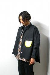 SHINYAKOZUKA(シンヤコズカ)/WORK SHIRT-ISH JACKET with Dickies/Black