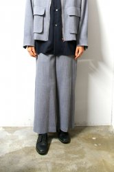 ETHOSENS(エトセンス)/Honeycomb wide trousers/Blue