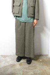 ETHOSENS(エトセンス)/Honeycomb wide trousers/Green