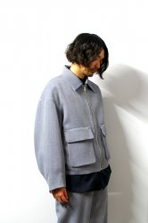 ETHOSENS(エトセンス)/Tucked big blouson /Blue
