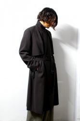 ETHOSENS(エトセンス)/Splitted trench coat /Dark brown