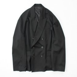 stein(シュタイン)/OVERSIZED DOUBLE BREASTED JACKET/Black
