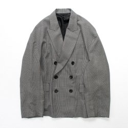 stein(シュタイン)/OVERSIZED DOUBLE BREASTED JACKET/Glen check