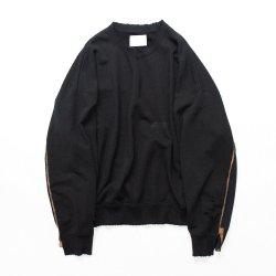 stein(シュタイン)/DOUBLE PATTERN REBUILD SWEAT LS/Black