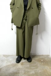 ETHOSENS(エトセンス)/High waist trousers/Khaki