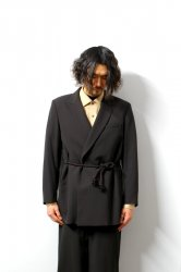 ETHOSENS(エトセンス)/Rope belt jacket/Dark brown