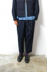 URU(ウル)/1TUCK PANTS/Navy