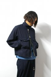 <img class='new_mark_img1' src='https://img.shop-pro.jp/img/new/icons13.gif' style='border:none;display:inline;margin:0px;padding:0px;width:auto;' />URU(ウル)/ZIP UP BLOUSON/Navy