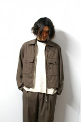 URU(ウル)/ZIP UP BLOUSON/Brown