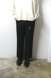 URU(ウル)/STRAIGHT PANTS/Black