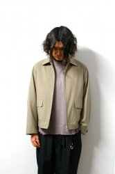 URU(ウル)/ZIP UP BLOUSON/L.Brown