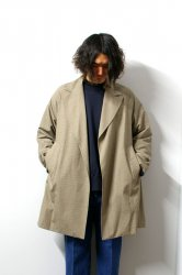 URU(ウル)/BUTTONLESS COAT/L.Brown