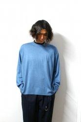 URU(ウル)/CREW NECK L/S KNIT/Turquoise