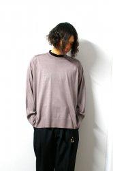 URU(ウル)/CREW NECK L/S KNIT/Mocha