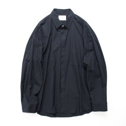 stein(シュタイン)/FLY FRONT SLEEVE OVERSIZED SHIRT/Midnight