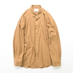 stein(シュタイン)/FLY FRONT SLEEVE OVERSIZED SHIRT/Camel