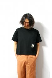 SHINYAKOZUKA(シンヤコズカ)/POCKET CROP TEE/Black