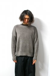 URU(ウル)/CREW NECK OVER KNIT/Choco