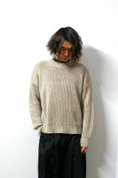 URU(ウル)/CREW NECK OVER KNIT/Beige