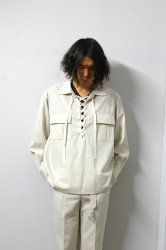 URU(ウル)/LACE UP SHIRTS/L.Beige